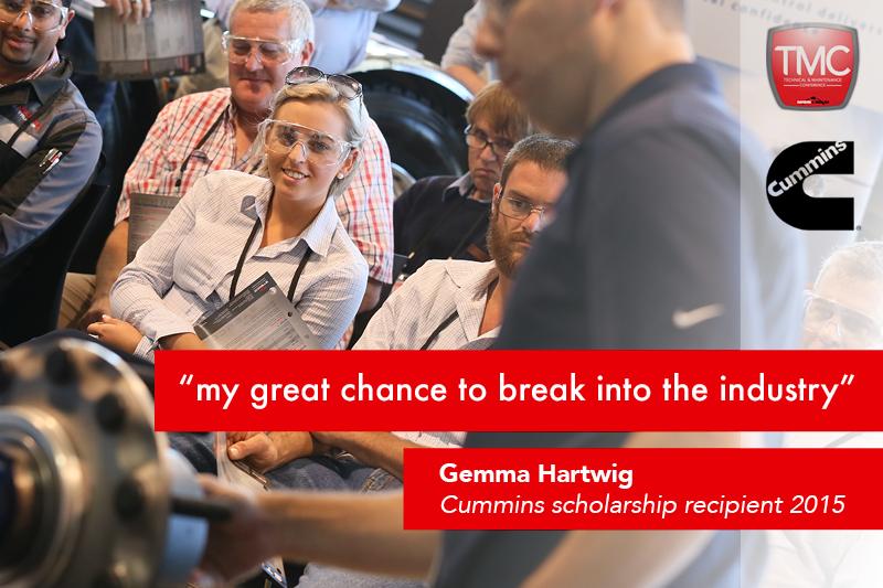 Gemma Hartwig, 2015 Cummins Scholarship winner